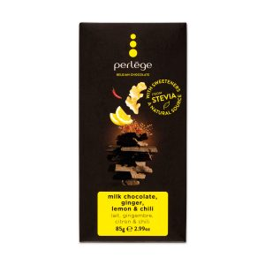 Perlege 85g milk chocolate ginger lemon chilli bar - stevia